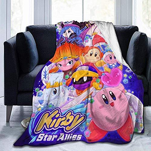 Nat Abra Kirby_Star Unisex Ultra Soft Micro Fleece Throw Blanket Cosy Plush Microfiber For Couch Bed Sofa Car Regalo De Año Nuevo