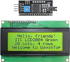 WayinTop 20x4 2004 LCD Display Module with IIC/I2C/TWI Serial Interface Adapter for Arduino Uno R3 Mega 2560 (Yellow Green/2004)