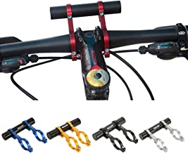 GUB 31.8MM Double Handlebar Extension Mount Carbon Fiber Extender Holder for Bike Light Bicycle Speedometer