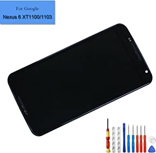 for Moto Google Nexus 6 XT1100 XT1103 Replacement Amoled Touch Screen Display LCD Digitizer Assembly with Frame + Tools