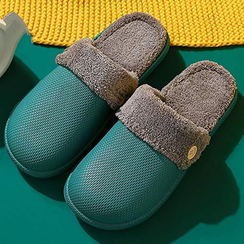 ZapatillascasaZapatillas De Invierno para Mujer Y Hombre, Zapatillas Cálidas Impermeables De Felpa, Zuecos, Zapatillas De Casa Unisex, Zapatos De Suelo para Interiores,