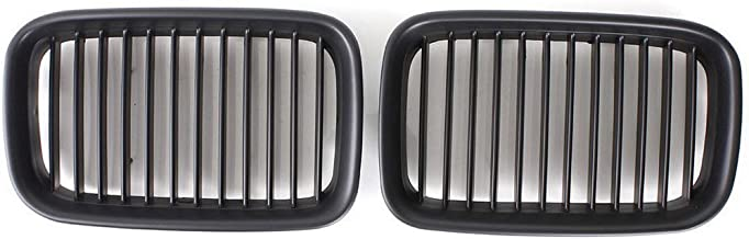 Matte Black Front Kidney Grille Center Grill For BMW 3 Series E36 1992-1996 1992 1993 19994 1995 1996