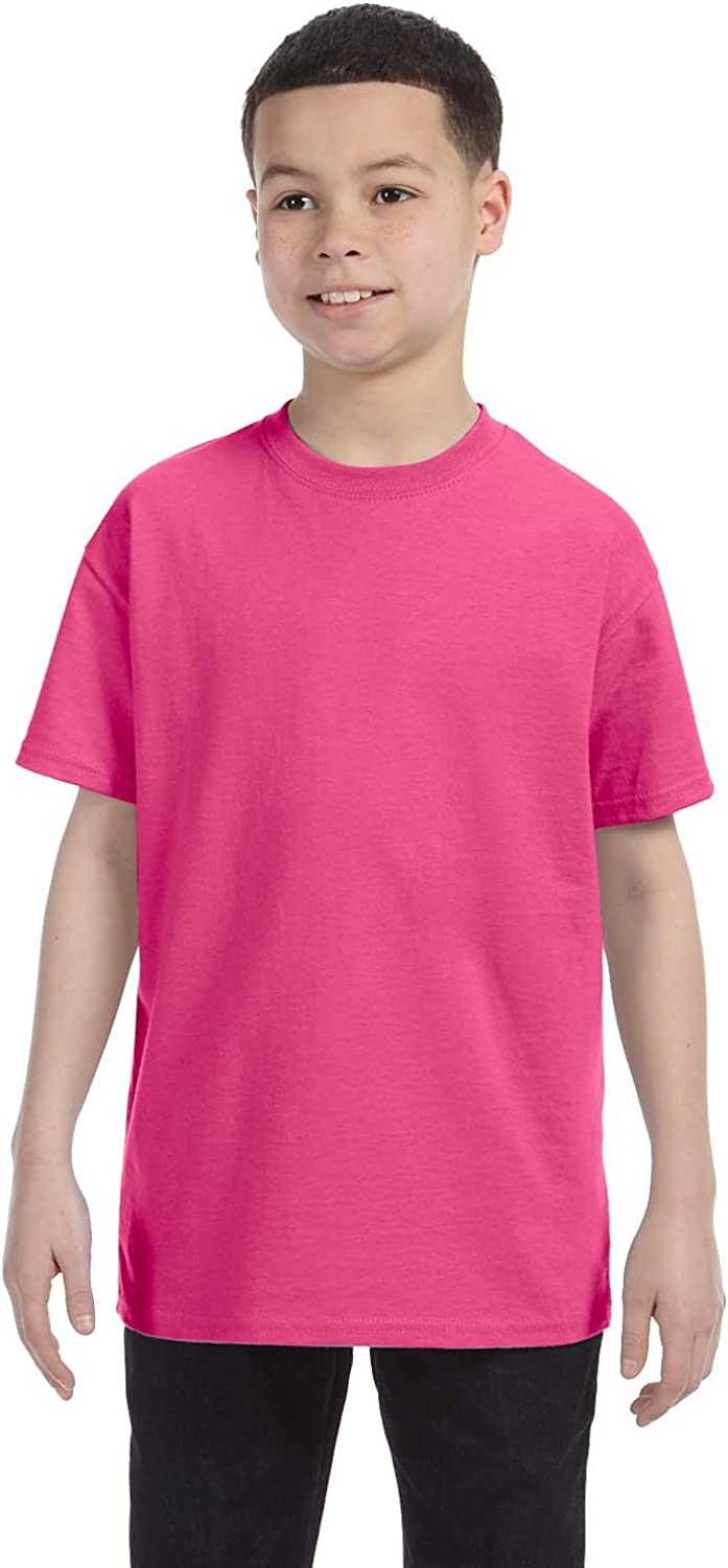 By Hanes Hanes Youth 61 Oz Tagless T-Shirt - Wow Pink - S - (Style # 54500 - Original Label)