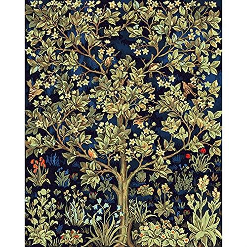 Whinop Kit De Pintura Al Óleo, Pintura por Numero Flor En Florero Pintura por Números, Flor De Pintura DIY Lienzo Imagen Pintada A Mano Decoración del Hogar