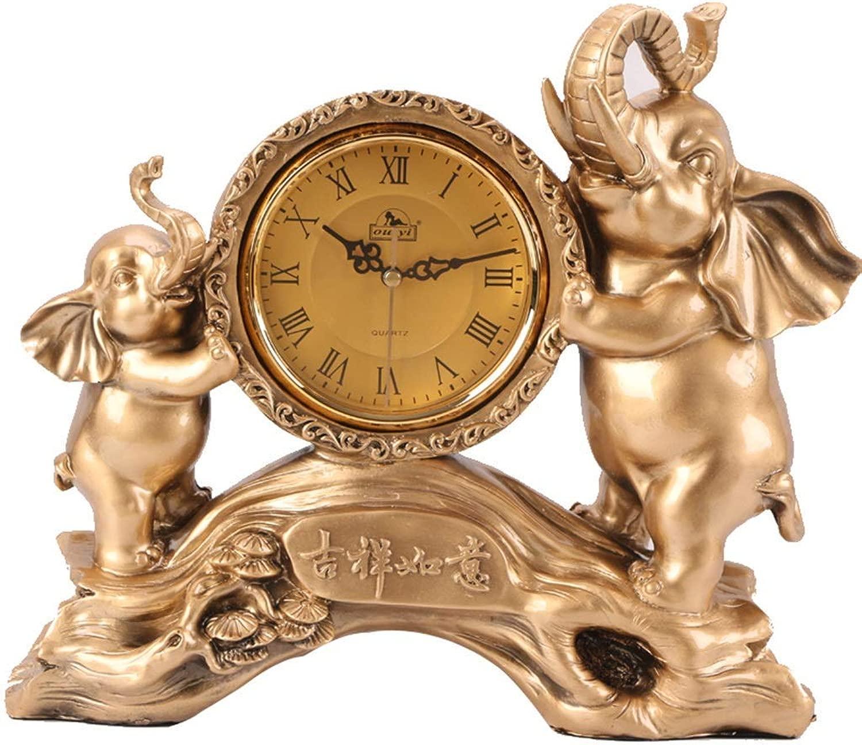 机の時計家族の時計、研究室の居間の寝室のオフィスに適した樹脂の刻々と過ぎないミュートマントルクロック
