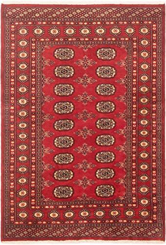 eCarpet Gallery Area Rug for Living Room, Bedroom | Hand-Knotted Wool Rug | Finest Peshawar Bokhara Bordered Red Rug 4