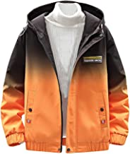 Rosatro Jackets for Men, Men's Casual Fall Winter Gradient Printed Jacket Fashion Hoodie Outwear Coat Tops