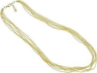 Murano Glass Gloriosa 6 Strand Seed Bead Necklace - Gold
