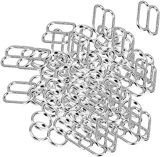 100 PCS Adjuster 8-Shaped Metal Bra Buckles Hooks for Women Girls Lingerie Sewing Crafts Bra Accessories zhengpingpai
