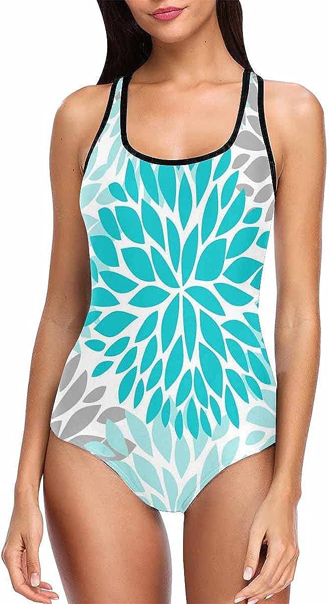 InterestPrint Dahlia Pinnata Flower Max 43% OFF Purple SEAL limited product Women Swimsuits High
