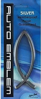Plain Jesus Fish Large Auto Emblem - Silver