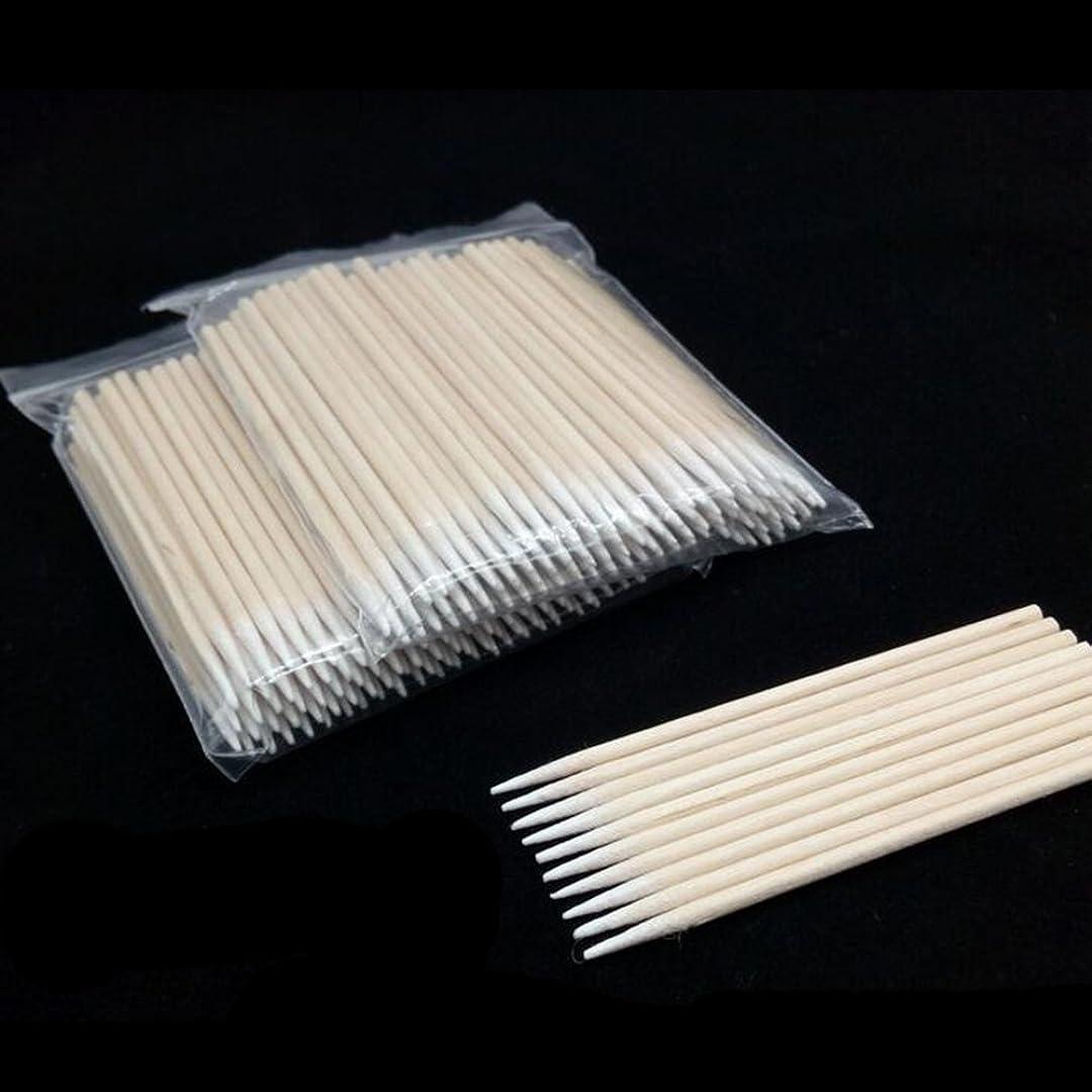 厚いチョークに対応LULAA 綿棒 クラフト綿棒 塗装用 塗装支援ツール 先端極細硬化タイプ 100個