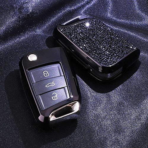 SXHNNYJ Cubierta de la Caja de la Llave del Coche, para VolkswagenPolo TIGUAN Golf Skoda Octavia Passat Seat Ibiza Leon