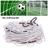 Auveach - Red para portería de fútbol (3 x 2 m), tamaño completo, para entrenamiento de partidos y deportes (poste no incluido)