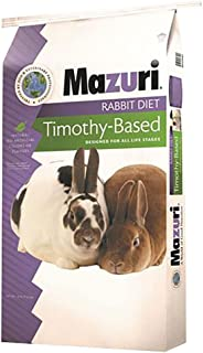 Mazuri | Nutritionally Complete Timothy Hay-Based Rabbit Food | 25 Pound (25 lb) Bag