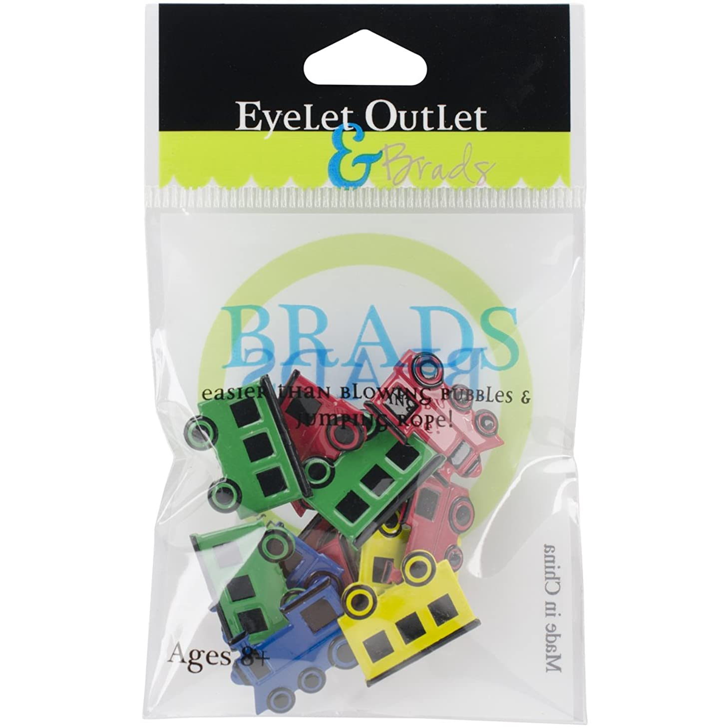 EYELET OUTLET 4 Train Mix Brads