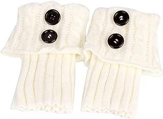 PIXNOR Pixnor Damen stricken Stulpen Socken Gestrickte kurzer Punkt Legwarmer Boot-Abdeckung Socken Weiß