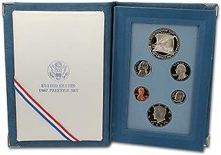 1987 S US Prestige Proof 6-Coin Set Original Box with COA