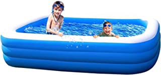 "Amy & Delle Inflatable Kiddie Swimming Pool - Large 71"" x 55"" x 23"" - Blow Up Family Lounge Above Ground Swim Center Perfect for Summer Outdoor Backyard Porch Garden Water Party Ages 3"