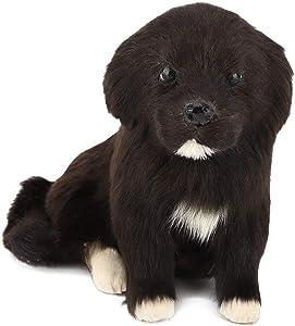KEYREN Forma de Perro Escultura de Animales Jardín Decoración de jardín Estatua en Forma de Perro Simulación de Polietileno