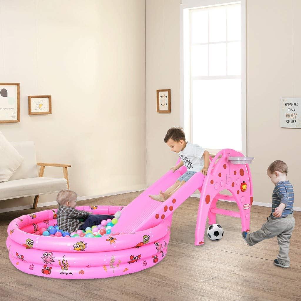 ETHY Trust 5 In1 Children's Slide Ocean w Ball Basketball Rack Max 81% OFF Pool