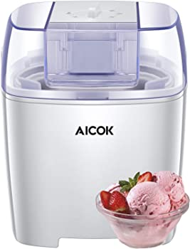 Aicok 1.6 Quart Frozen Yogurt and Sorbet BPA Free Ice Cream Maker