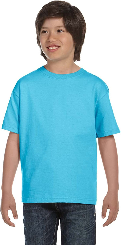 By Hanes Hanes Youth 52 Oz ComfortSoft Cotton T-Shirt - Light Blue - L - (Style # 5480 - Original Label)