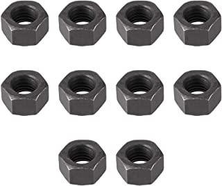 uxcell Hex Nuts, M10x1.5mm Metric Coarse Thread Hexagon Nut, Carbon Steel, Pack of 10 Black