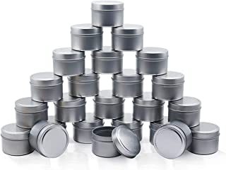 NRANSON Kaars Tin 24 Stuk, 5 Oz, Kaars Containers, kaars Potten Voor Kaarsen Maken-Beschikbaar In Zilver, Zwart, Goud (Gou...