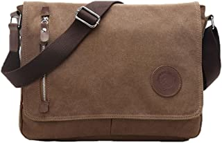 Egoelife LB-BBPHF18 Unisex Casual Canvas Satchel Messenger Bag for Traveling Camping