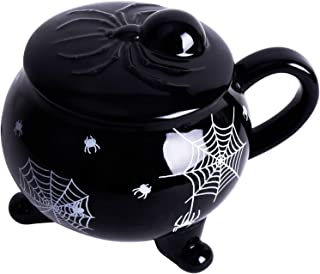 Vencer The Nightmare Before X-mas Witches Brew,Spider Lies On The Lid of The witch's Mug,Novelty Mug Coffee Mug,VCM-26