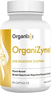 Digestive Enzyme Supplement - Bloating Relief - Gas Relief - 17 Digestive Enzymes in 1 - OrganiZymes by Organixx (90 Capsu...
