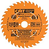 CMT 271.210.36M Lama Circolare Itk-Plus per Taglio Lungo e Traverso Vena, Arancio...