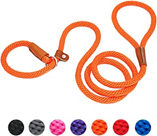 Sponsored Ad - lynxking Dog Leash Slip Rope Lead Leash Strong Heavy Duty Braided Rope No Pull Training Lead Leashes for Me...