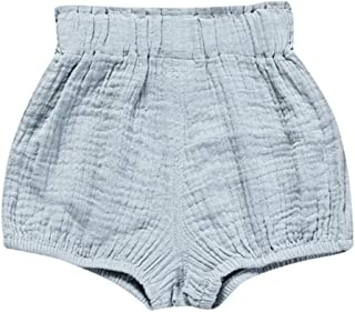 Weixinbuy Baby Girl's Shorts Elastic Waist Pull-on Diaper Cover Training Pants Bloomers Trousers Bottoms