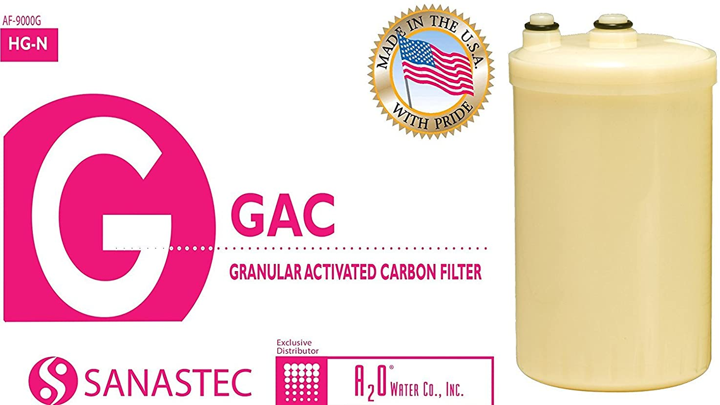NEW! HG-N type replacement filter for Kangen Enagic water ionizer, Made in USA with NSF certified materials, compatible with HG_N. Chlorine Test Kit Included