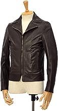 [EMMETI【エンメティ】]襟付きライダースジャケット ELTON NAPPA MANGA 0.4 Dark brown ラムレザー ダークブラウン