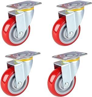 WQF Trolley Furniture Caster,Heavy Duty wielen,Set van vier,Enkele maximale belasting 140 kg (309 lbs), Geschikt voor zwar...