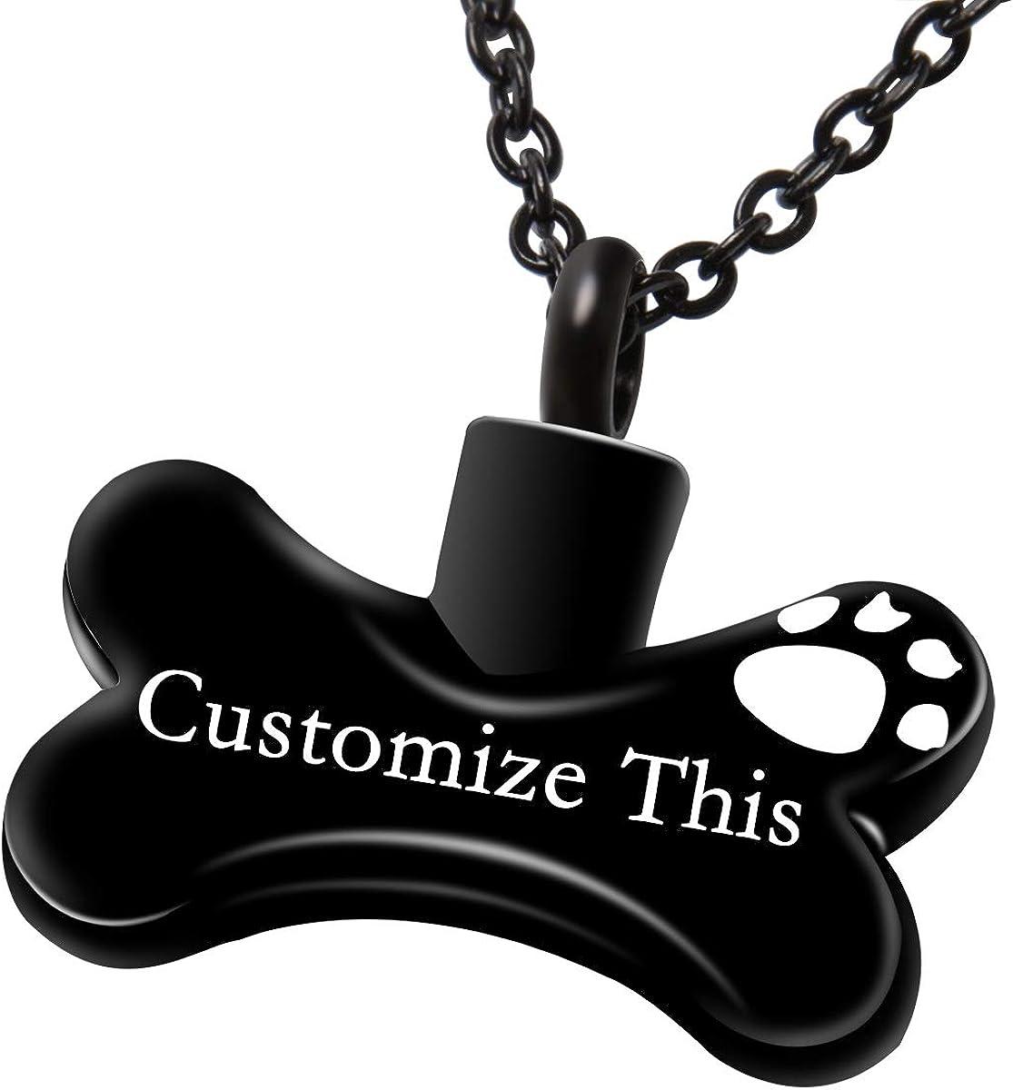 Fanery sue Dog Bone Personalized Custom Omaha Mall discount Ne Cremation Jewelry Urn