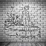 wZUN Baño salón de Belleza calcomanía Mujer Desnuda Terapia relajación Pared Pegatina Vinilo...