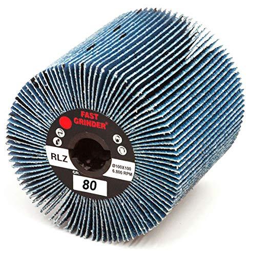 MOP 100x 100g. 80Zirkonium Bohrung 19,1mm für Satiniermaschine Flex Rupes Metabo Stayer