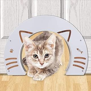 EXPAWLORER CatDoorsforInterior Doors - 2 Pcs Made of Bamboo for Kitty Puppy Pass Hidden Litter Box Furniture Hole Door Fits Cats