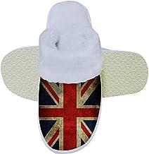 JJZZA Union Jack British Flag Plush Cotton Shoes,Cotton-padded Shoes,Cotton Slippers