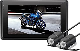 """Motorcycle Dash Cam, OXOQO HD 3.0"""" 1080P+720P Front and Rear Motorbike Camera, Waterproof Motorcycle Driving Recorder with G-Sensor, Loop Recording, Nite Mode,WDR"""