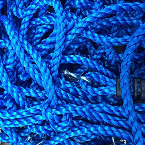 Loggyland Kletternetz 2,50 Meter hoch, 1 Meter breit, Verschiedene Netzfarben zur Auswahl HxB 2,5x1 ohne Holzkonstruktionm (BLAU)