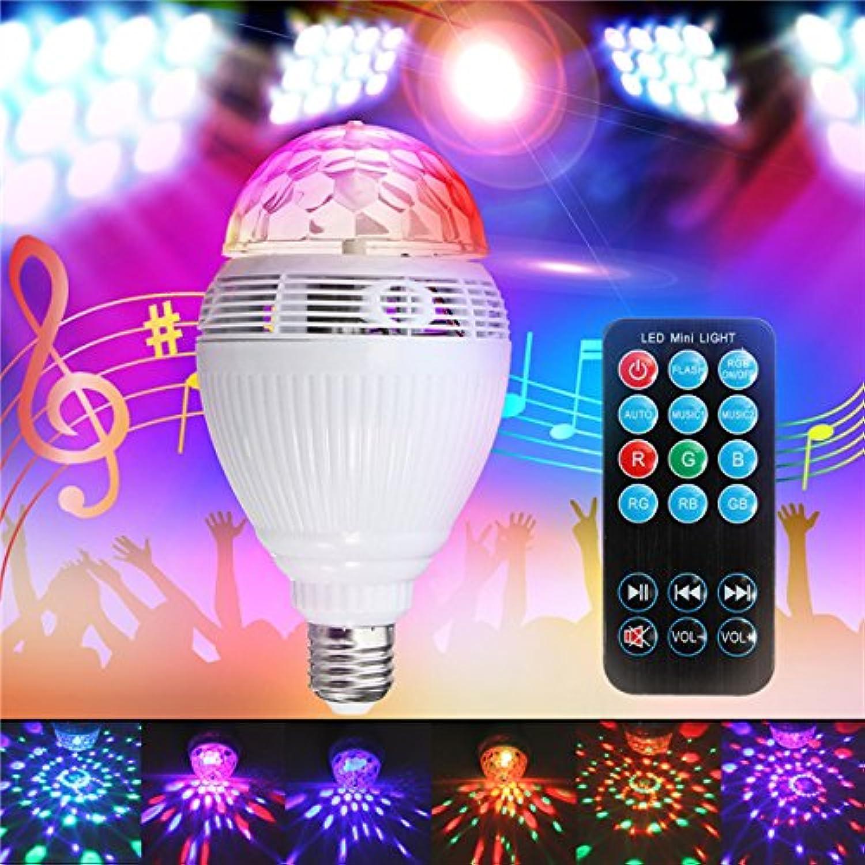 QIZIANG E27 RGB Smart Blautooth LED Bühne Glühbirne Auto Rotation Musik Spielen Lampe für Party Club AC110-240V Hot B07KV9J9X8  | München