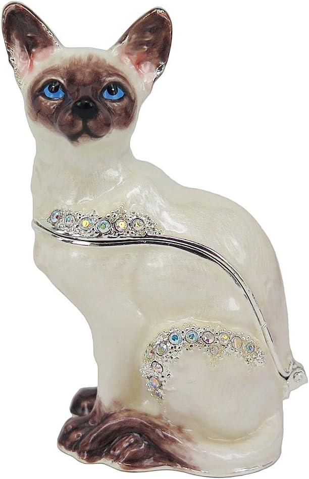 Direct store Austin Mall RUCINNI Siamese Cat Trinket Box