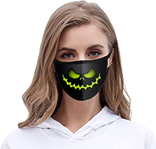 Luckylin 1/4/5pcs Halloween Face Bandana Neon Led Màsks Scary Cover Light up Protective Cosplay Face Protection Lights up for Halloween Festival Party