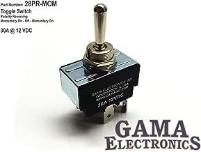 GAMA Electronics 30 Amp Toggle Switch 3 Position Polarity Reversing DC Motor Control- Momentary