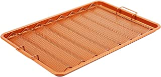 Copper Chef Oven Crisper Tray for Bacon & More | Baking Sheet & Air Crisper Pan | Use Hot Air to Crisp & Fry Bacon Without Oil or Fat | Non Stick & Dishwasher Safe 13